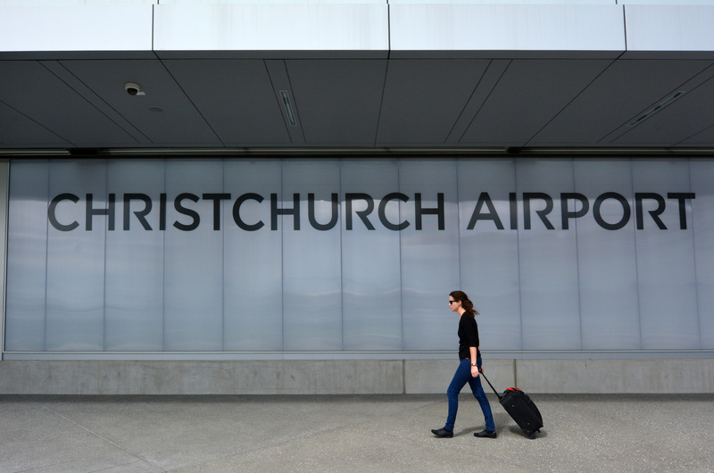 Christchurch Airport counts with a single passenger terminal.